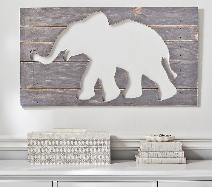 Elephant Plaque , Pottery Barn Kids