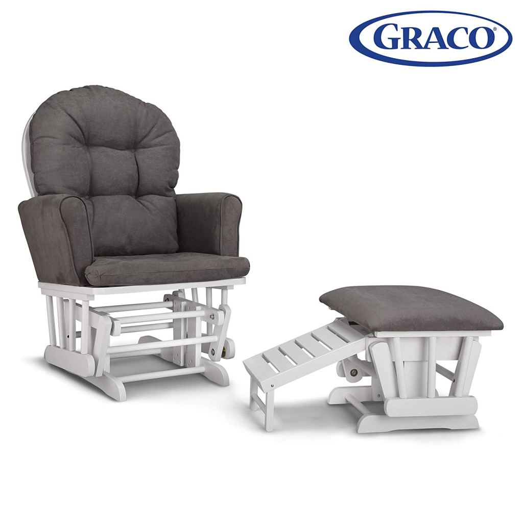 Graco Parker Semi-Upholstered Glider and Nursing Ottoman Amazon