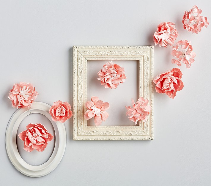 Pink Mixed Flower Wall Decor , Pottery Barn Kids